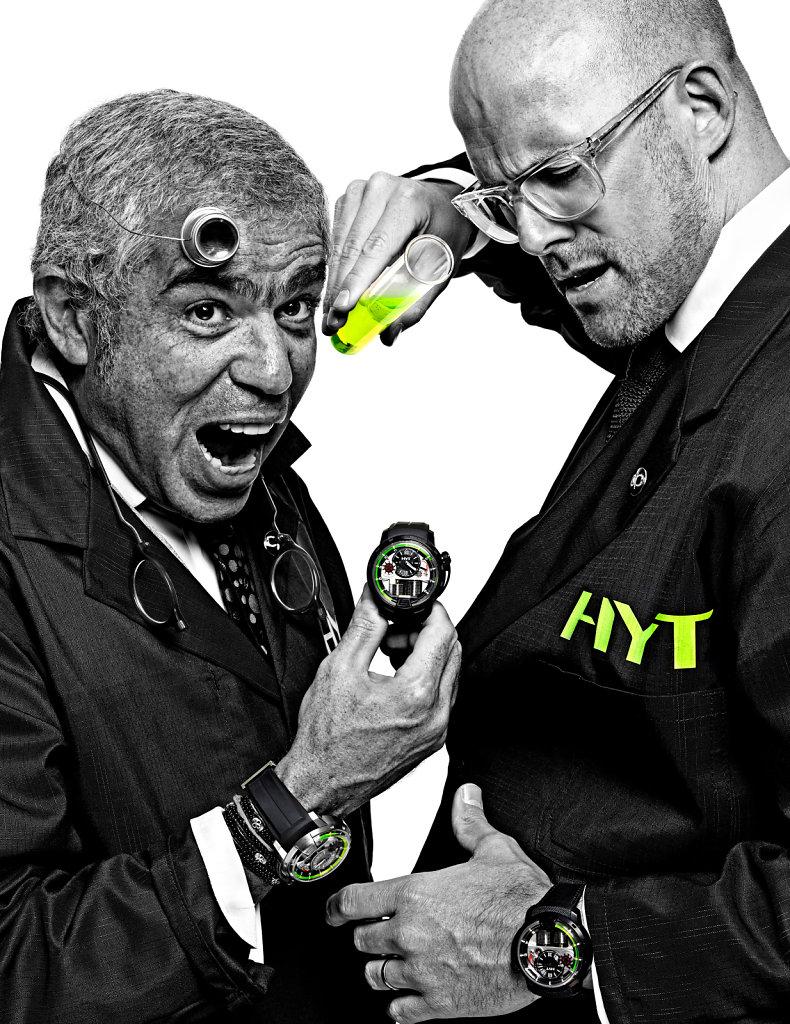 © Stéphane de Bourgies, Laurent Picciotto & Vincent Perriard for Hyt watches