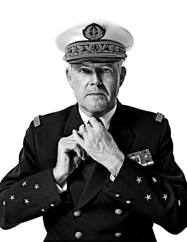 © Stéphane de Bourgies, Amiral Edouard Guillaud, Chef d'Etat Major des Armées.