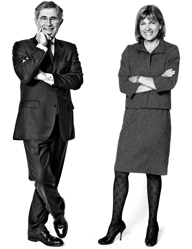 Gérad Mestrallet et Anne Lauvergeon