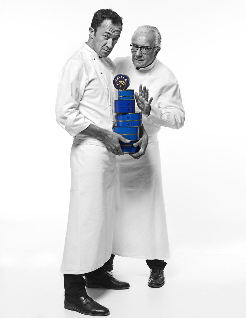 Romain Meder et Alain Ducasse, septembre 2016.